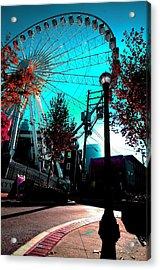 The Wheel Blue Acrylic Print