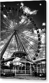 The Wheel Entrance In Black And White Acrylic Print