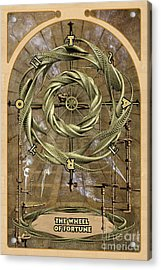 The Wheel Of Fortune Acrylic Print by John Edwards
