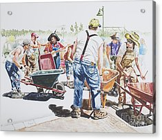 The Wheelsbarrow Band Acrylic Print