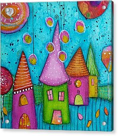 The Whimsical Village - 3 Acrylic Print