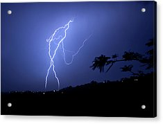 Acrylic Print featuring the photograph The Whip Of Fire by Odille Esmonde-Morgan