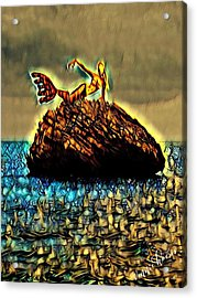 The Whisperer Acrylic Print by Vennie Kocsis