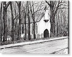 The White Chapel Acrylic Print