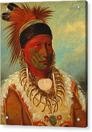 The White Cloud, Head Chief Of The Iowas Acrylic Print