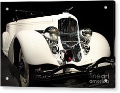 The White Duesenberg Acrylic Print by Wingsdomain Art and Photography