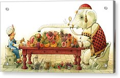 The White Elephant 03 Acrylic Print by Kestutis Kasparavicius