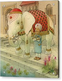 The White Elephant 05 Acrylic Print by Kestutis Kasparavicius