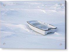The White Fishing Boat Acrylic Print