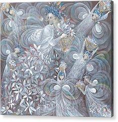 The White Hibiscus Acrylic Print