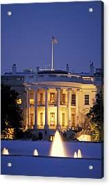 The White House South Portico At Dusk Acrylic Print by Richard Nowitz