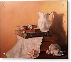 The White Pitcher Acrylic Print by Patricia Lang