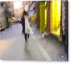The White Scarf Acrylic Print