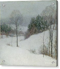 The White Veil Acrylic Print by Willard Leroy Metcalf