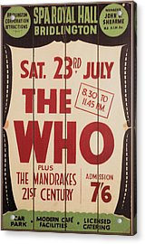 The Who 1966 Tour Poster Acrylic Print
