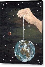 The Whole World  Acrylic Print by Bryana  Johnson