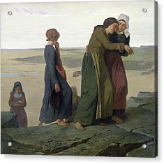 The Widow Acrylic Print by Evariste Vital Luminais