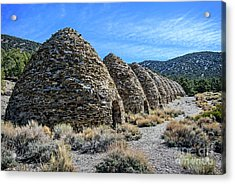 The Wildrose Charcoal Kilns Acrylic Print