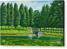 The Willow Path Acrylic Print by Charlotte Blanchard