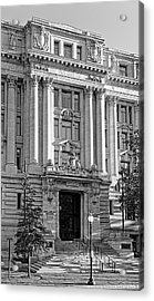 Acrylic Print featuring the photograph The Wilson Building In Black And White by Greg Mimbs