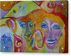 The Wilson Family Loves Their Canary Acrylic Print by Judith Redman