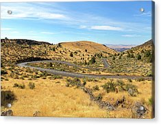 The Winding Road In Central Oregon Acrylic Print