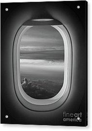 The Window Seat Bw Acrylic Print