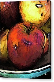 The Wine Apple With The Gold Apples Acrylic Print
