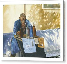 Acrylic Print featuring the painting The Wineseller by Marlene Book