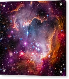 The Wing Of The Small Magellanic Cloud Acrylic Print by Marco Oliveira