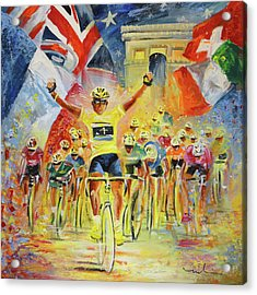 The Winner Of The Tour De France Acrylic Print