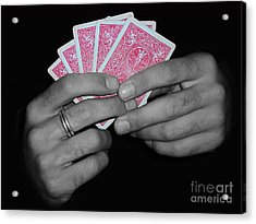 The Winning Hand Acrylic Print