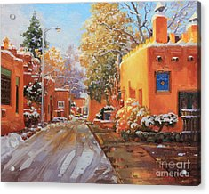 The Winter Beauty Of Santa Fe Acrylic Print by Gary Kim