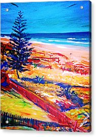 Acrylic Print featuring the painting The Winter Dunes by Winsome Gunning