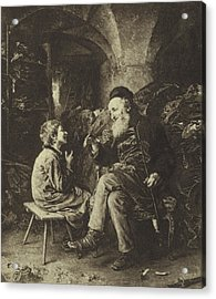 The Wisdom Of Solomon Acrylic Print by Ludwig Knaus