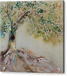 Acrylic Print featuring the painting The Wisdom Tree by Joanne Smoley