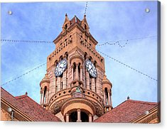 The Wise County Courthouse Clock Tower Acrylic Print by JC Findley