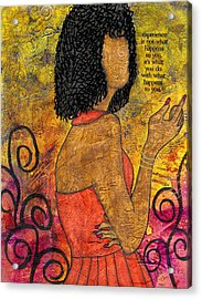 The Wise Lady Who Lives Next Door Acrylic Print by Angela L Walker