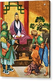 The Wise Man Of China  Confucious Acrylic Print by Peter Jackson