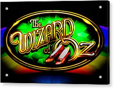 The Wizard Of Oz Casino Sign Acrylic Print by David Patterson
