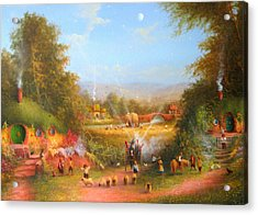 Fireworks In The Shire. Acrylic Print