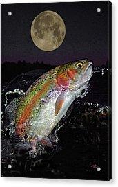 The Wolf Moon Acrylic Print by Brian Pelkey