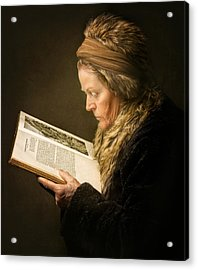 The Woman Reading Acrylic Print by Anita Meezen