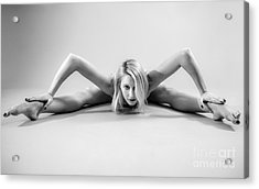 The Woman Spider Acrylic Print by Pierre-jean Grouille