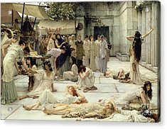 The Women Of Amphissa Acrylic Print by Sir Lawrence Alma-Tadema
