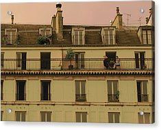 The Women On The Balcony Acrylic Print by Louise Fahy