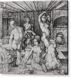 The Women's Bath, 1496 Acrylic Print by Albrecht Durer