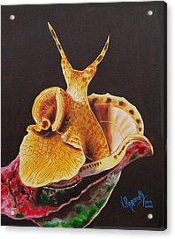 Acrylic Print featuring the painting The Wonder Flower Panas by Ragunath Venkatraman