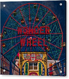 The Wonder Wheel At Luna Park Acrylic Print