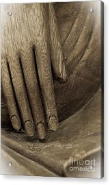 The Wooden Hand Of Peace Acrylic Print